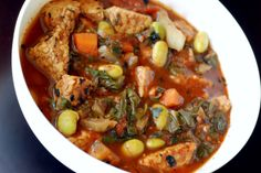 smoky tempeh and chard stew