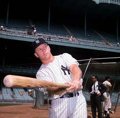 There was just something about Mickey Mantle that just intrigued me as a young boy.  All of those home runs and records unfolding on television.  If he hadn't been an alcoholic, the records he could have broken would speak loudly for themselves.