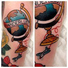 45 tatuagens para inspirar quem ama viajar