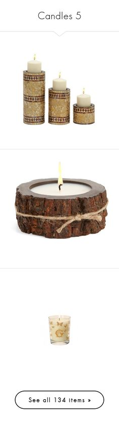 """""""Candles 5"""" by mysfytdesigns ❤ liked on Polyvore featuring home, home decor, candles & candleholders, mountain forest, rustic candles, winter candles, himalayan trading post candles, fragrance candles, scented candles and candles"""