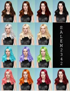 Salem2342: Middle part hairstyle  - Sims 4 Hairs - http://sims4hairs.com/salem2342-middle-part-hairstyle/