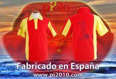 Polo Finisterre, con los colores de la bandera, 25€ http://www.pi2010.com/polo…/polos-bandera-espa%C3%B1a-hombre Si te gusta, comparte