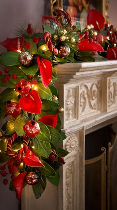 6' Rich Wine-Colored Garland #Christmas