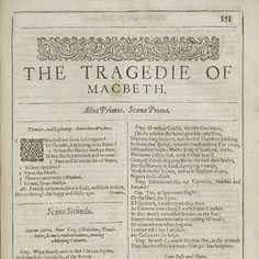 The first page of Macbeth, in the Second Folio of 1632. #Macbeth is one of favorite #shakespeare plays.    The character of Mathias is addicted to reading Shakespeare, forever quoting it:    But 'tis strange;  And oftentimes, to win us to our harm,  The instruments of darkness tell us truths,  Win us with honest trifles, to betray us  In deepest consequence.    La première page de Macbeth, dans le second folio de 1632. Macbeth est l'une de mes pièces préférées de Shakespeare.
