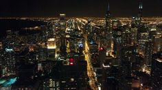 Night view of Chicago from the The Signature Room at the 95th.