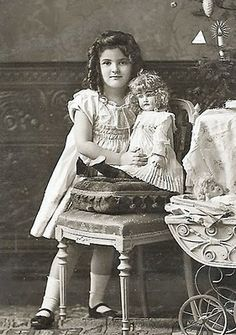 Girl and her doll