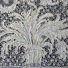 French Argentan Lace, circa 1700.