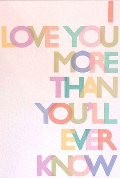 Gus & Lula Pastel Love You More Print