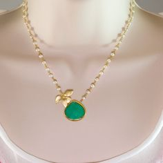Holiday Sale Rare large faceted bezel set Chrysoprase by delezhen