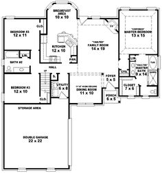 european style house plans 1660 square foot home 1 story 3 bedroom and