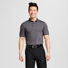 Men's Stripe Golf Polo Shirt - C9 Champion Silverstone Xxl