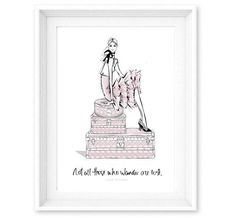 Limited Edition Print - Travel Girl Dior