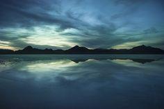 great salt lake | Great Salt Lake – Blue Sunset | kent budge photography