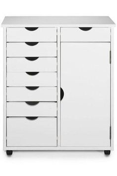 Stanton 7 + 1 Drawer Double-Wide Storage Cart with Door - Storage Carts & Chests - Storage & Organization - Home Decor | HomeDecorators.com