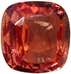 A High Quality Square cut Padparascha Sapphire from Sri Lanka