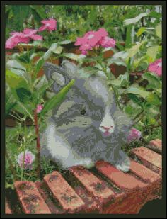 In My Garden - Counted Needle Point and Cross Stitch Chart Patterns