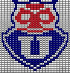 Pixel art Universidad de Chile Chile, 3d Origami, Astros Logo, Houston Astros, Hama Beads, Pixel Art, Team Logo, Graffiti, Cross Stitch