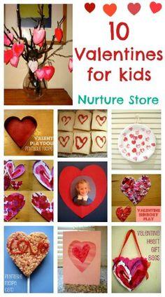 10 Valentine crafts for kids.