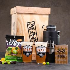 The Personalized Growler Crate is a beer lover's gift that transports the weekend brewery beer bender experience to the relaxing environs of your home. Man Crates, Gifts For Beer Lovers, Beer Opener, Beer Tasting, Brew Pub, Beer Recipes, How To Make Beer, Beer Label, Home Brewing