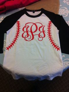 Baseball Softball Personalized Monogrammed Raglan Shirt on Etsy, $22.00 I want it!!