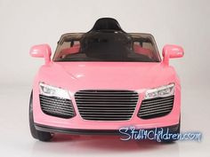 Stuff4Children.com - Audi R8 Electric Cars for Kids to Ride 12V Parental Remote Control Adjustable Seatbelt for Safety MP3 Hookup Music Best in Battery Operated Toy Car Models for Kids to Drive Toddlers Audi kids car pink