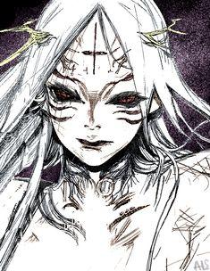 The person who made me who I am. Manga Girl, Manga Anime, Anime Art, Distortion Art, Anime Drawings Sketches, Scary Art, Arte Horror, Dark Fantasy Art, Art Sketchbook