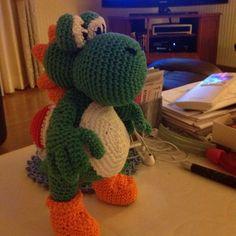 Yoshi gehäkelt