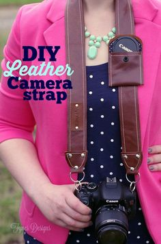 DIY Leather Camera Strap Free Pattern - FYNES DESIGNS...hmmm my best friend is a kickass photographer.....