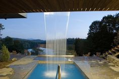 Water fall into pool, Spa Balnea Grotto Pool, Canton, Luxury Pools, Canada Travel, Canada Trip, Cool Pools, Architecture, Serenity, Relax