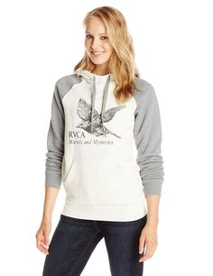 RVCA Junior's Mysteries Raglan Fleece Pullover Hoodie >>> This is an Amazon Affiliate link. Want to know more, click on the image.