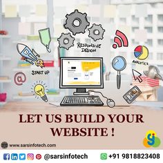 Get a user friendly website at unbelievable prices.   Click at www.sarsinfotech.com to know more about the quotation of customize website or just ping us on WhatsApp at +91-9818823408.  #websitedesigner #webdesign #advertisingagency #advertisement #ecommercewebsite #websitedesign #websitebuilder #websielaunch #websitedevelopment #digitalmarketing #makemoneyonline #startupbusiness #marketingonline #mobileapp #softwaredevelopment #socialmedia #marketingstrategy #business #seo #marketing Seo Marketing, Online Marketing, Digital Marketing, Start Up Business, Online Business, Best Web Design, Web Design Company, Advertising Agency, Software Development