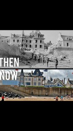 D Day Normandy, History Posters, Before And After Pictures, Back In The Day, Then And Now, Historical Photos, Ghosts, Diorama, World War