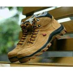 Sepatu Kickers Brembo Safety Boots Suede Leather Tan Sepatu