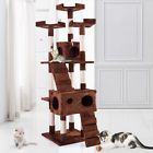 """67"""" Cat Tree  Furniture Scratching Tower Condo Post Pet Kitty Playhouse Coffee"""