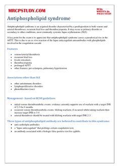 antiphospholipid syndrome | Antiphospholipid Syndrome