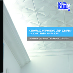 Cielorraso Imcombustible Blotting - Línea EUROPEA