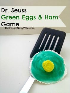 Dr. Seuss Green Eggs and Ham #Game for #kids via The Frugal Navy Wife