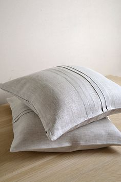 Ecru ORGANIC  Linen Pillow Cushion Cover / Case