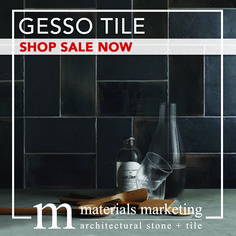 """Dramatically update your kitchen with our In-Stock Gesso Tile! This double-fired ceramic, with manual glazing intervention, will add a contemporary Urban flair to your design. Our wide selection of 4"""" X 8"""" Gesso tiles, available in 18 different color options, are on Sale Now for a limited time. Visit www.Materials-Marketing.com to pick yours out today!  #ceramictiles #handcrafted #kitchendecor #kitchenrenovation #kitchendesign #kitchenremodel #kitcheninspiration #kitchenideas #kitcheninspo Wall Design, House Design, Stone Tiles, Subway Tile, Home Decor Styles, Wall Tiles, Different Colors, Kitchen Remodel, Vodka"""