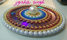 Arti Thali Decoration, Kalash Decoration, Old Cd Crafts, Easy Crafts, Paper Crafts, Diwali Decorations, Festival Decorations, Diwali Craft, Diwali Diya