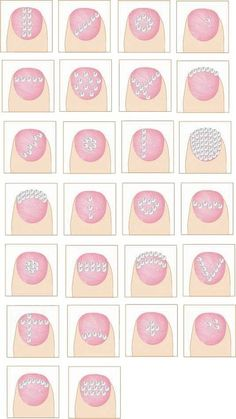 DIY - Rhinestone nail art ideas. Would be good designs for dots, too