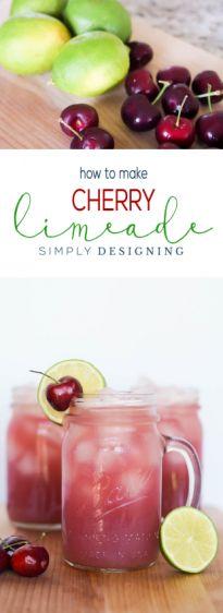 Easy to Make Homemade Cherry Limeade Recipe