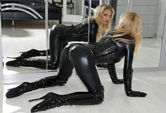 Angels in Tight Latex Catsuits and High Heels Ballet Heels, And God Created Woman, Stockings Heels, Shiny Leggings, Latex Catsuit, Tabu, Sexy Latex, Tights Outfit, Sexy Poses