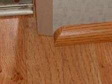 Cutting quarter round returns is simple once you understand where to cut. The return hides the cut end of the quarter round. Baseboard Styles, Baseboard Molding, Floor Molding, Moldings And Trim, Crown Molding, Shoe Molding, How To Install Baseboards, Quarter Round Molding