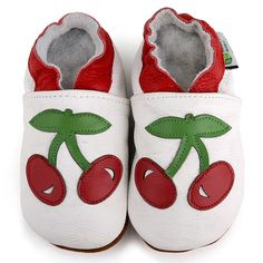 Baby Pie Red Cherry Leather Girl's Shoes - Overstock™ Shopping - Big Discounts on Girls' Shoes