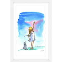 Marmont Hill - 'Reach for the Stars' by Phyllis Harris Framed Painting Print