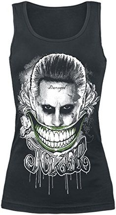 Escuadrón Suicida The Joker - Smile Top Mujer Negro S #camiseta #starwars #marvel #gift