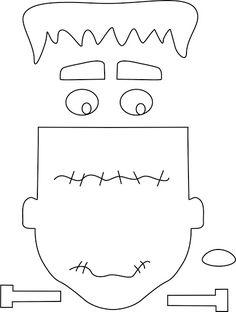 Molde cara Frankenstein