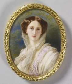 Anton Hähnisch (1817-97)  Olga, Grand Duchess of Russia when Crown Princess of Württemberg (1822-92)  1857 Watercolour on ivory laid on card | 11.5 x 9.2 cm (support, canvas/panel/str external) | RCIN 420716