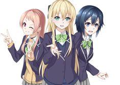 Aguri, Hishinomori Chiaki, and Tendou Karen (gamers!) drawn by heikichi Videogames, Black Bullet, Gamers Anime, Maid Sama, Manga, Me Me Me Anime, Cute Love, Neko, Memes